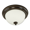 Good Earth Lighting 11.25-in W Brentwood Oil Rubbed Bronze Ceiling Flush Mount