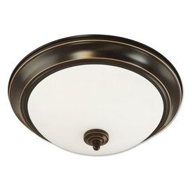 Good Earth Lighting Brentwood 15.25-in W Oil-Rubbed Bronze Ceiling Flush Mount Light