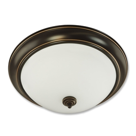 Good Earth Lighting Brentwood 19.37-in W Oil-Rubbed Bronze Ceiling Flush Mount Light