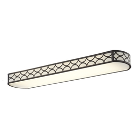 allen + roth Capistrano Light Bronze Ceiling Fluorescent Light ENERGY STAR (Common: 4-Ft; Actual: 54.37-in)