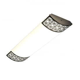 allen + roth Calypso Aged Rubbed Bronze Ceiling Fluorescent Light ENERGY STAR (Common: 4-Ft; Actual: 49.5-in)