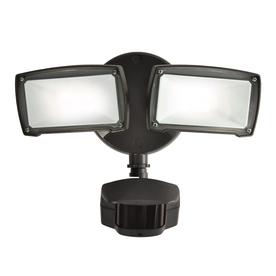 Utilitech Pro 180-Degree 2-Head Black Led Motion-Activated Flood Light