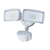 Utilitech Pro 180-Degree 2-Head White LED Motion-Activated Flood Light