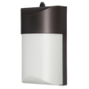 Utilitech Pro 12.24-Watt Bronze LED Dusk-To-Dawn Security Light