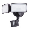 Utilitech Pro 180-Degree 2-Head Bronze Led Motion-Activated Flood Light Timer Included