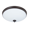 Good Earth Lighting Legacy 15-in W Light Bronze LED Ceiling Flush Mount Light