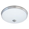Good Earth Lighting Legacy 19-in W Brushed Nickel LED Ceiling Flush Mount Light