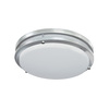 Good Earth Lighting Jordan 11-in W Brushed Nickel LED Ceiling Flush Mount Light
