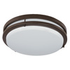 Good Earth Lighting Jordan 11-in W Light Bronze LED Ceiling Flush Mount Light