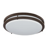 Good Earth Lighting Jordan 14-in W Light Bronze LED Ceiling Flush Mount Light