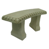  15.75-in H Fauxcrete Bench Garden Statue
