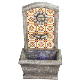Garden Treasures Mosaic Outdoor Fountain with Pump