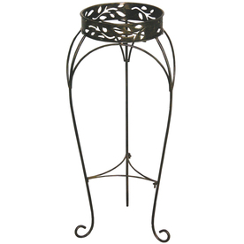shop garden treasures 30 in tall cabin leaf plant stand 2 tier plant stand at. Black Bedroom Furniture Sets. Home Design Ideas
