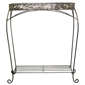 Garden Treasures 30-in 2-Tier Cabin Leaf Plant Stand