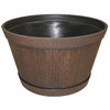 9.21-in H x 15.5-in W x 15.5-in D Kentucky Walnut Plastic Planter