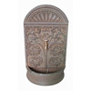Garden Treasures 28.35-in H Wall Fountain Garden Statue
