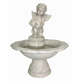 "Garden Treasures 30-5/7"" Cherub Fountain"