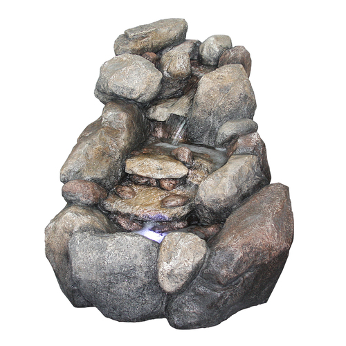Garden fountains from lowes in faux stone antique copper for Garden fountains lowes