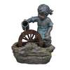 Garden Treasures Girl with Wheel Fountain