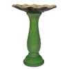 Garden Treasures Green Lutos 1-Tier Birdbath