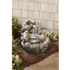 Garden Treasures 21.65-in Fiberglass Rock Waterfall Fountain