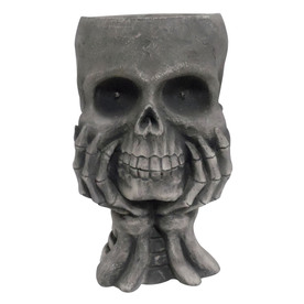1-Piece Skull with Hands Outdoor Halloween Decorations