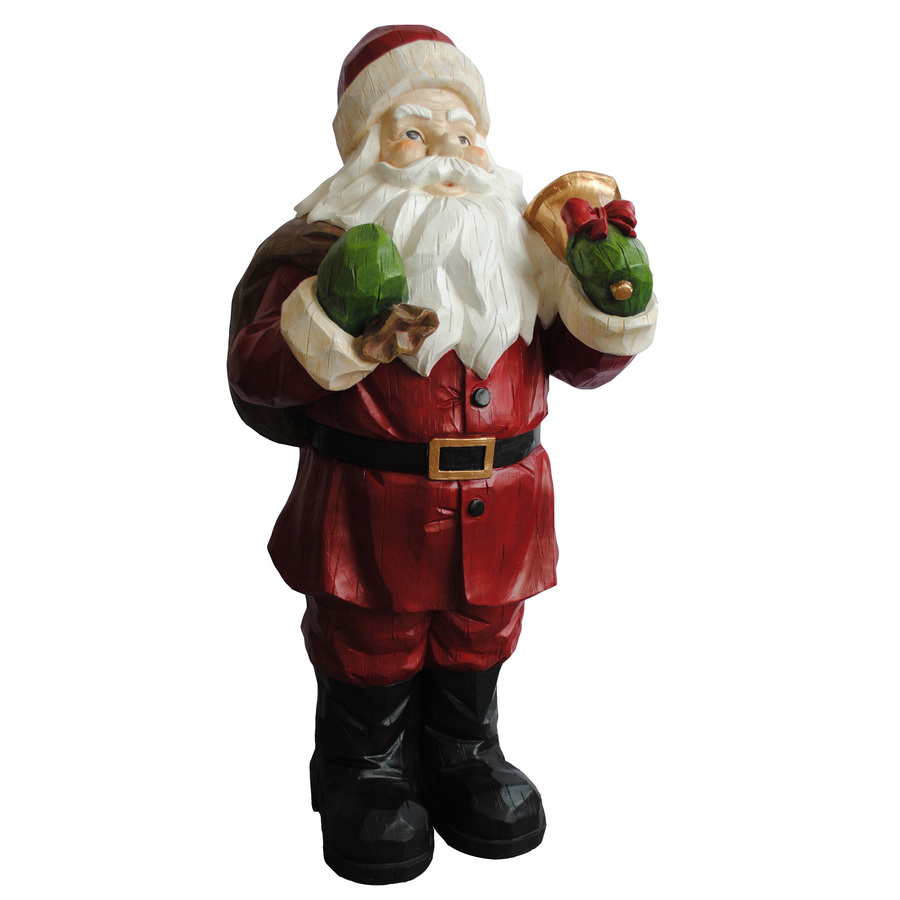 Holiday living 2 85 ft santa outdoor christmas decoration at lowes com