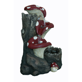 UPC 755305512085 Product Image For Garden Treasures Mushroom Outdoor  Fountain With Pump | Upcitemdb.com