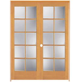 Shop Reliabilt 10 Lite French Solid Core Pine Universal Interior French Door Common 60 In X 80