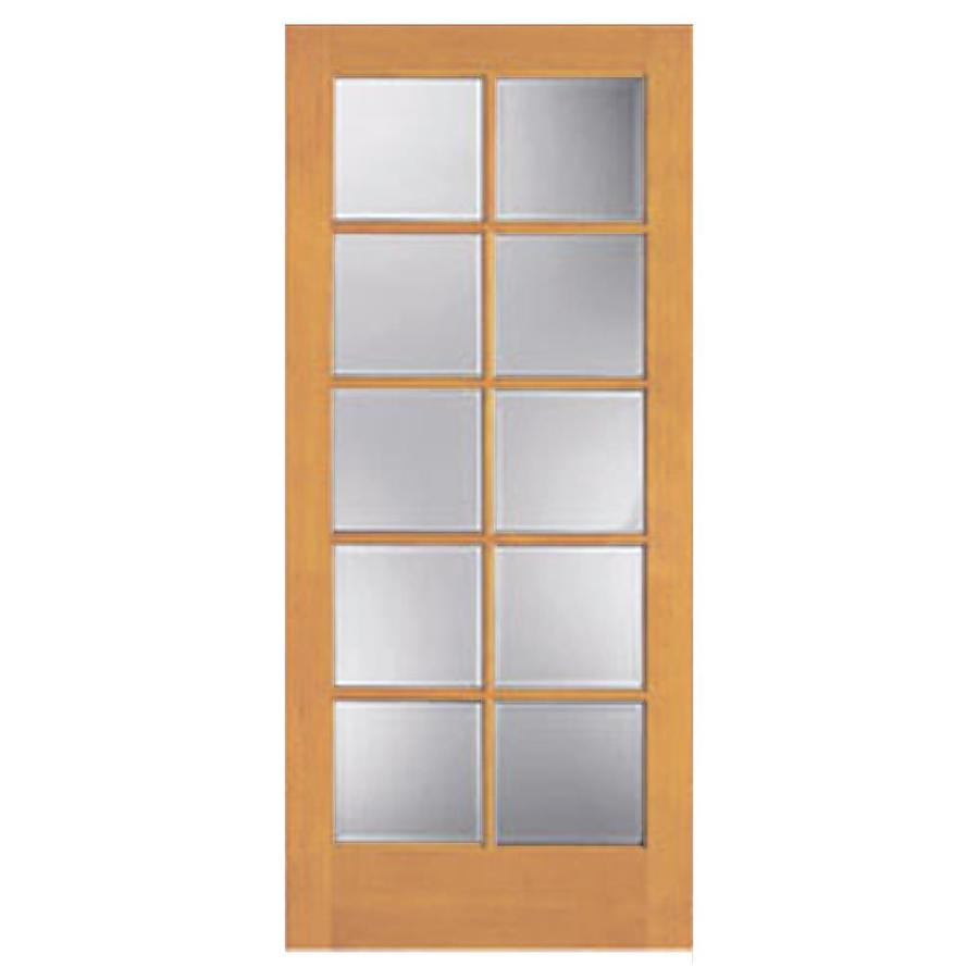 Shop reliabilt 10 lite french solid core no skin non bored clear interior slab door common 32 inch interior french doors