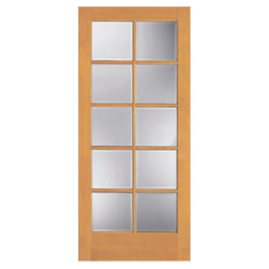 Shop Reliabilt 10 Lite French Solid Core No Skin Non Bored Clear Interior Slab Door Common