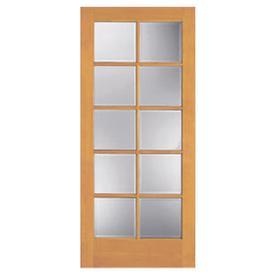 Shop Reliabilt 10 Lite French Solid Core Non Bored Clear Glass Interior Slab Door Common 32 In