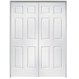 Shop reliabilt prehung hollow core 6 panel french interior - Lowes prehung interior french doors ...