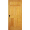 ReliaBilt 36-in x 80-in 6-Panel Douglas Fir Wood Entry Door