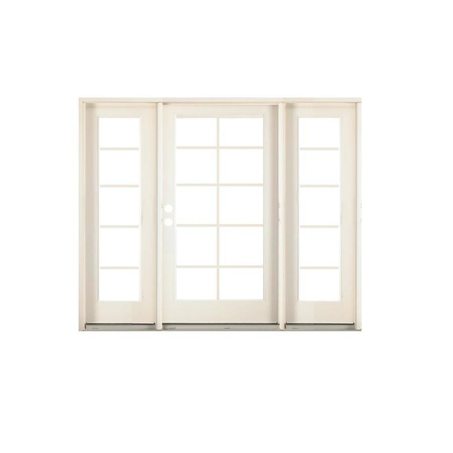 Shop reliabilt 71 5 in 10 lite glass steel french inswing for Special order french doors