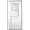 ReliaBilt 32-in x 80-in Half Lite Prehung Inswing Steel Entry Door