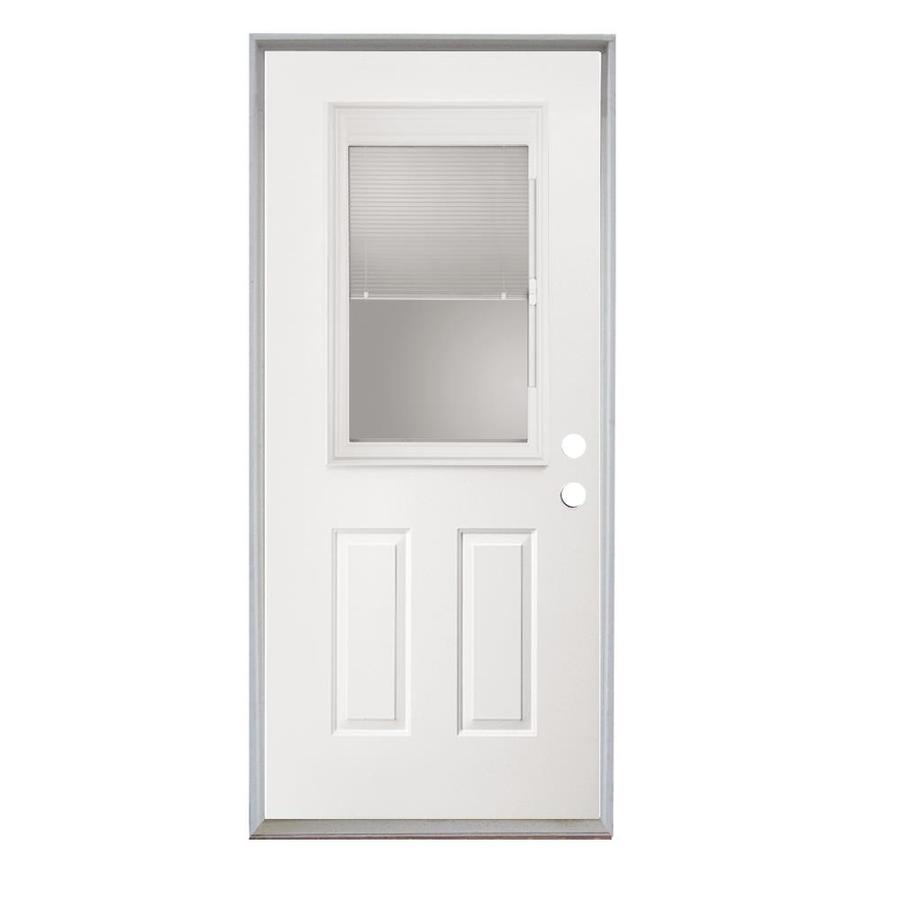 Shop Reliabilt 32 Steel Entry Door Unit With Blinds Between The Glass At