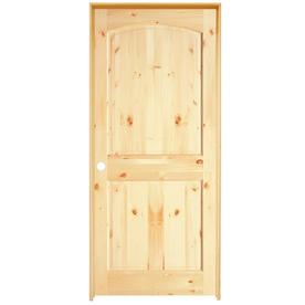 Shop Reliabilt Prehung 2 Panel Arch Top Knotty Pine Interior Door Common 30 In X 80 In Actual