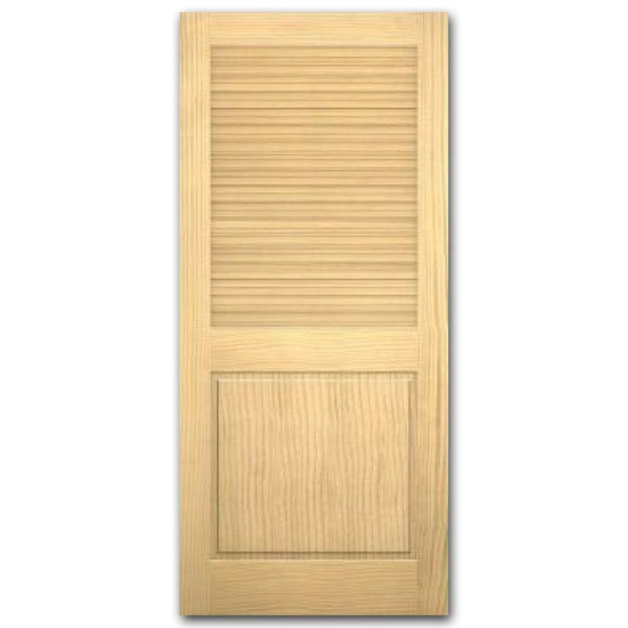 shop reliabilt louver panel solid core non bored interior slab door common 80 in x 30 in