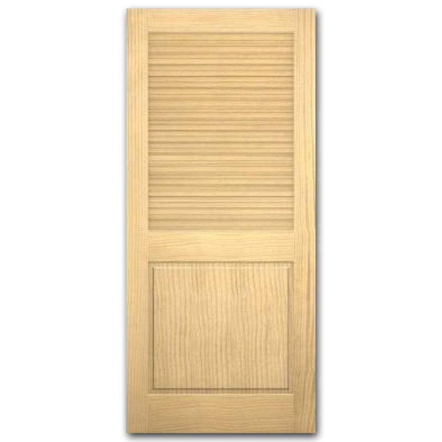 Shop Reliabilt Louver Panel Solid Core Non Bored Interior Slab Door Common 80 In X 32 In
