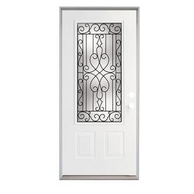 ReliaBilt Wyngate Insulating Core Steel Prehung Entry Door (Common: 36-in x 80-in; Actual: 81.75-in x 37.5-in)