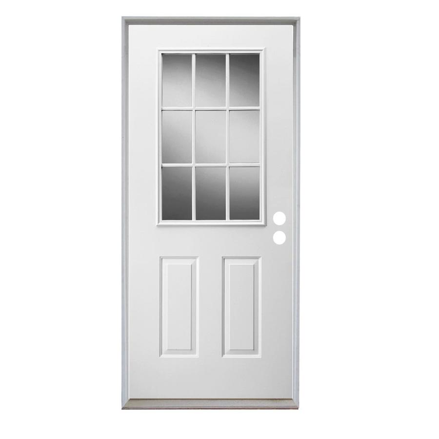 Shop reliabilt full lite prehung inswing steel entry door for Lowes exterior doors