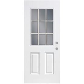 ReliaBilt Fiberglass Prehung Entry Door (Common: 32-in x 80-in; Actual: 81.75-in x 33.5-in)