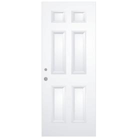 ReliaBilt 6-Panel Fiberglass Prehung Entry Door (Common: 30-in x 80-in; Actual: 31.5-in x 81.75-in)