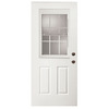 ReliaBilt Fiberglass Prehung Entry Door (Common: 36-in x 80-in; Actual: 37.5-in x 81.75-in)