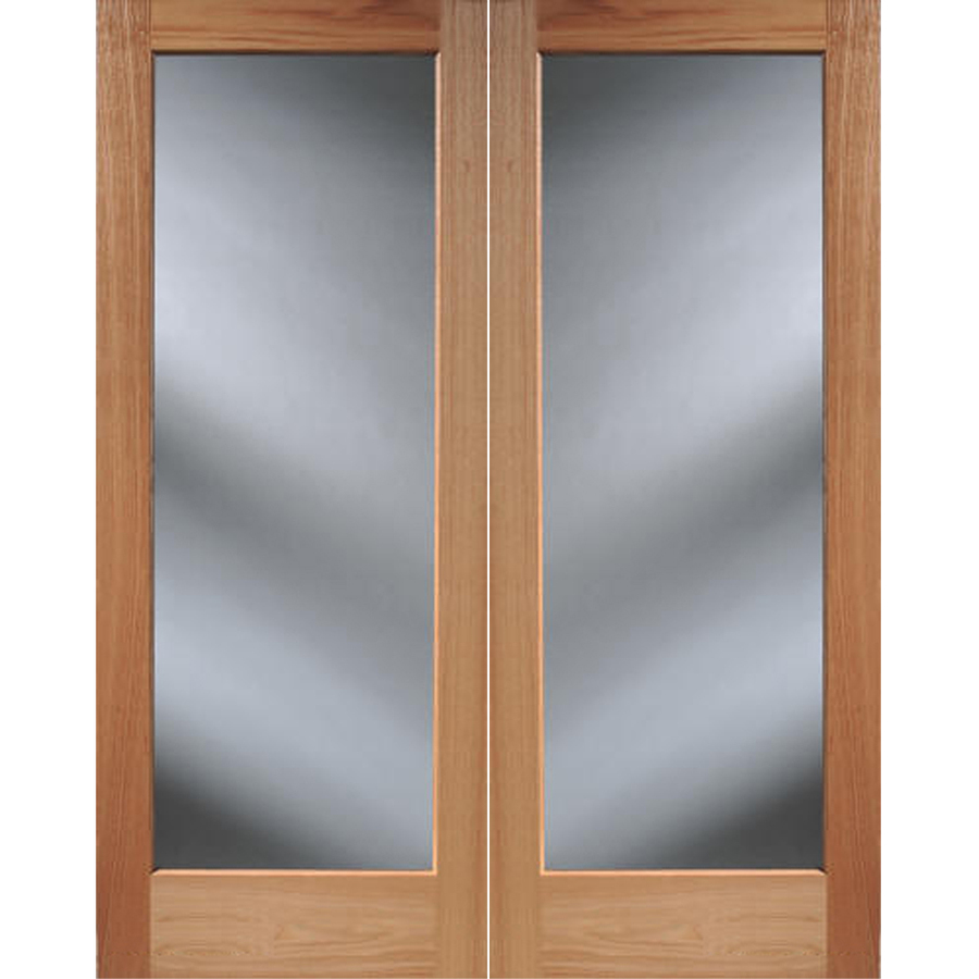 Shop reliabilt 1 lite solid core oak universal interior for Interior french doors
