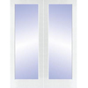 ReliaBilt 60-in x 80-in 1-Lite Solid Core Pine Universal Interior French Door