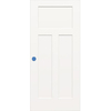 ReliaBilt 32-in x 80-in 3-Panel Craftsman Molded Composite Hollow Core Bored Interior Slab Door
