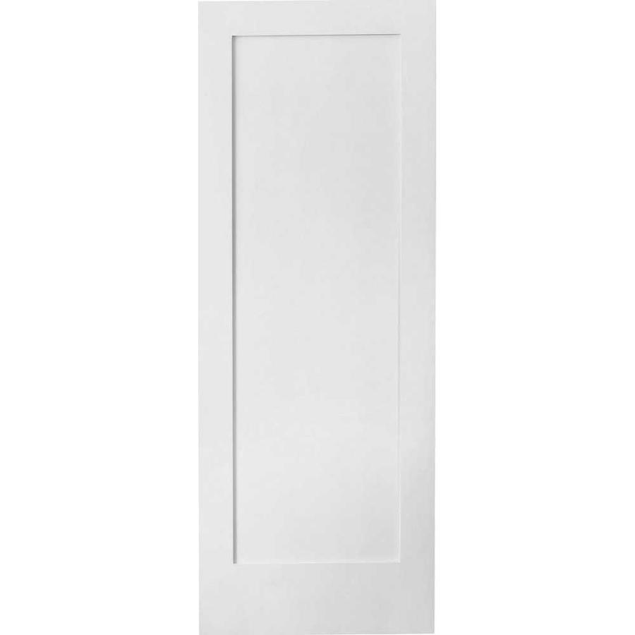 Shop Reliabilt 1 Panel Square Solid Core Non Bored Interior Slab Door Common 80 In X 28 In