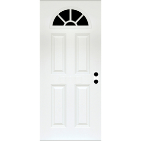 ReliaBilt Fiberglass Prehung Entry Door (Common: 32-in x 80-in; Actual: 33.5-in x 81.75-in)